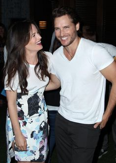 Elizabeth Reaser and Peter Facinelli aka Esme and Carlisle Cullen- haha love them!!