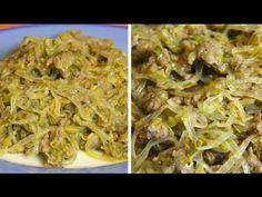 Shirataki con salsiccia e verdure - Shirataki with sausage and vegetables