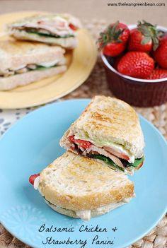 Balsamic Chicken & Strawberry Panini