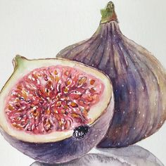 A personal favorite from my Etsy shop https://www.etsy.com/listing/574610834/watercolor-painting-of-figskitchen #art #painting #watercolor #etsy #watercolorpainting