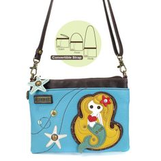 869b3a352a23 Chala Mini Crossbody - MermaidConvenient, Versatile, Compact Front zipper  pocket is adorned with our