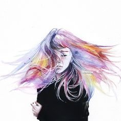 Little Girl by Agnes Cecile | Eyes On Walls