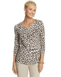 < Chico's Cheetah Charm Shirttail Top #chicos > #destinationfabulous @#leoisaneutral