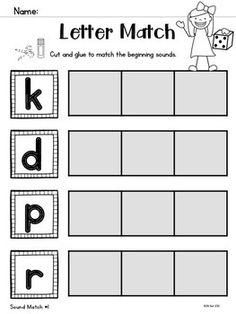 This is a FREE sample of a larger set of printables to help students practice letter-sound correspondence and identify beginning sounds.