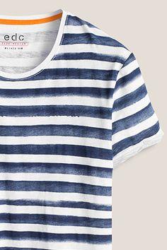 EDC   100% cotton-jersey t-shirt Camisas De Manga Larga cd4211bff73f0