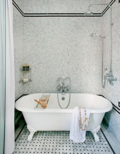 Bathtub In Shower, Transitional, Bathroom, Decormag