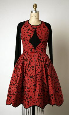 Dress, Geoffrey Beene, spring/summer 1988, American; silk, wool and synthetic