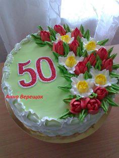 Фотография Creative Cake Decorating, Cake Decorating Videos, Creative Cakes, Cookie Decorating, Russian Cake Tips, Little Girl Cakes, Royal Icing Flowers, 30 Birthday Cake, Spring Cake