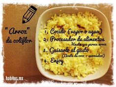 Hábitos Health Coaching | Arroz de coliflor.