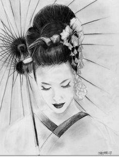 Geisha by kaleidosc0pe.deviantart.com on @deviantART