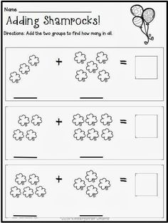 Fun Math Worksheet for Kindergarten Kindergarten Math Worksheets St Patricks Day with A Freebie Kindergarten Math Worksheets, Kindergarten Classroom, Fun Math, Math Activities, Preschool Activities, 2 Kind, School Holidays, Literacy Centers, St Patricks Day