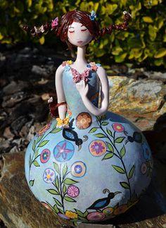 Cabaça e arte: Lady Butterfly