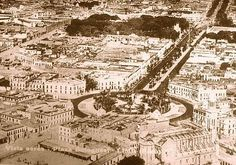 Vista aerea de Plaza Bolognesi, 1930s