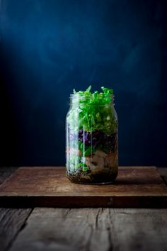 Shrimp and Edamame Power Salad in a jar by Katie Webster on Healthy Seasonal Recipes.