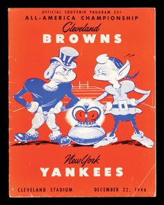 Official All-America Championship Program, Browns vs Yankees, December 22, 1946