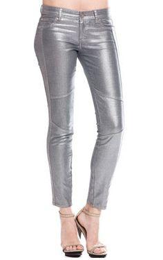 Maybe next time! A|X Women's Metallic Coated Legging Jean #denim