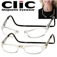7c5842f29a CliC Euro Magnetic Front-connect Reading Glasses  Clear   34.82 Mens Glasses