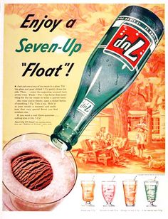 1955 Seven Up 7Up Classic Vintage Print Ad