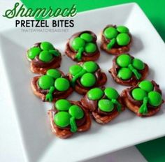 St. Patrick's day pretzels