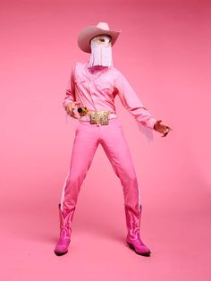 """Thank you for making me feel pretty in pink. Photos by Matt Barnes x"" High Fashion, Mens Fashion, Mode Editorials, Cowboy And Cowgirl, Mood, Drag King, Couture, Pretty In Pink, Style Icons"