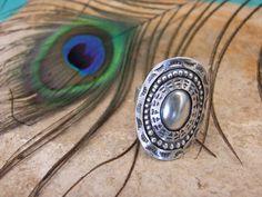 Anillo artesanal de plata 925. Anillo étnico. Joyería de plata. Joyería étnica.