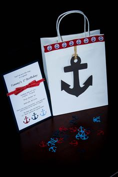 How funny, I have the anchor ribbon. This would be so easy for favors.