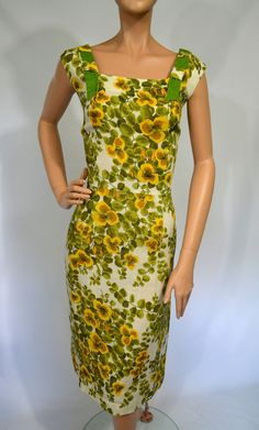 $70. A Southern Belle Vintage 50's 60's Yellow by ManyAMoonVintage