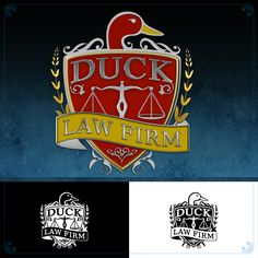 This is the Creative Hat Logo Design Concept for Duck Law Firm