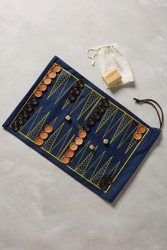 Roll-Up Backgammon & Checker Set - anthropologie.com
