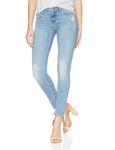 Lucky BRAND Womens Jeans Blue Size Stretch Brooke Ripped Jeggings 89 for sale online Ripped Jeggings, Cropped Skinny Jeans, Distressed Skinny Jeans, Distressed Leggings, Best Jeans For Women, Jeans Store, Casual Outfits, Lucky Brand, Clothes For Women