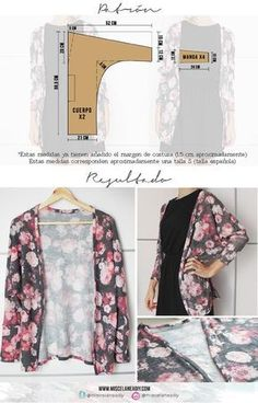 Amazing Sewing Patterns Clone Your Clothes Ideas. Enchanting Sewing Patterns Clone Your Clothes Ideas. Kimono Diy, Motif Kimono, Kimono Pattern, Cardigan Pattern, Sewing Patterns Free, Clothing Patterns, Dress Patterns, Fashion Sewing, Diy Fashion