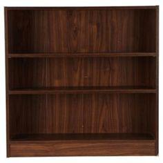 Tesco direct: Fraser Walnut Effect 3 Shelf Bookcase, Wide