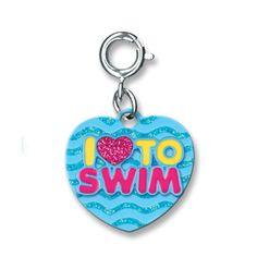 I Heart To Swim Charm- $5.00