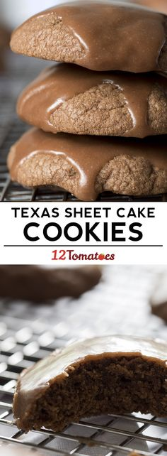Texas sheet cake cookies!