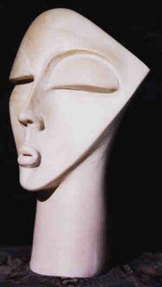 Female Head, Paris, Art Decor, Clay, Statue, Abstract, Face, Portraits, Lighting