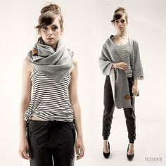 Jerseyschals - Tube Scarf Hood ORIGAMI DRESS - ein Designerstück von CADOaccessories bei DaWanda