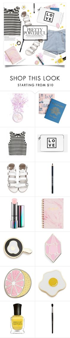 """""""You'd like her"""" by brynhawbaker ❤ liked on Polyvore featuring In Your Dreams, Rifle Paper Co, Casetify, Lord & Berry, MAC Cosmetics, Big Bud Press, Georgia Perry, KAROLINA, H&M and Deborah Lippmann"""