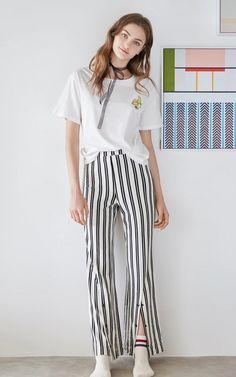 T-shirt Spring New, Casual T Shirts, Vogue, Woman, Pants, Fashion, Trouser Pants, Moda, Fashion Styles