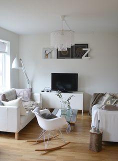 lovely grey and white living room
