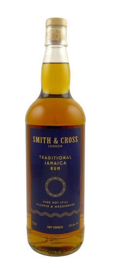 Smith & Cross Navy Strength Rum  $29 The most popular (in America) for this category, this 114 proof rum is pot still-distilled in Jamaica at the Hampden Estate Smith & Cross. It's a blend of Plummer and Wedderburn rums, each having undergone some aging. After the initial powerful alcohol bite, the flavor blossoms into something sweet and smoky, ending with an exceptionally warm note of mixed nuts. It's an experience for spirits adventurers and historians alike.