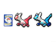Pokemon Generation 3 Legendaries Perler - Latias / Latios on Etsy, $3.00