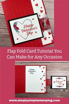 Valentine Day Cards, Holiday Cards, Valentines, Valentine Ideas, Card Making Tutorials, Card Making Techniques, Fancy Fold Cards, Folded Cards, Craft Paper Storage