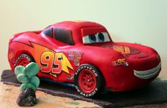El Laboratorio de las Tartas: Tartas Decoradas Madrid: Tarta Rayo McQueen - Lightning McQueen cake