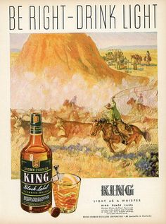 1944 King Black Label Print Ad  Interior Design  Paper