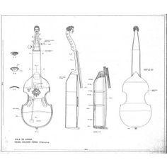 Drawing No. 2, Viola da Gamba Michel Colichon - Parigi 1700c.