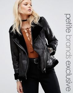 Buy it now. Glamorous Petite Faux Shearling Cost With Zip Detail - Black. Petite coat by Glamorous Petite, Thick faux suede, Warm borg lining, Asymmetric zip fastening, Functional pockets, Zipped cuffs, Regular fit - true to size, Machine wash, 100% Polyester, Our model wears a UK 8/EU 36/US 4, Exclusive to ASOS. ABOUT GLAMOROUS PETITE Glamorous pulls together an eclectic mix of vintage influences and brand new trends. Glamorous Petite brings us the same fashion-led pieces as their mainline…