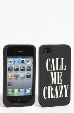 Why, why, why cant this be for an iphone 5??????  kate spade new york 'call me crazy' iPhone 4 & 4S case available at #Nordstrom