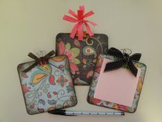 Post-it note clipboard from cardboard coasters #tutorial