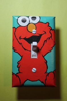 Hey, I found this really awesome Etsy listing at https://www.etsy.com/listing/196082311/sesame-street-elmo-light-switch-plate