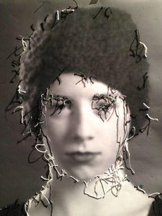 Vintage Photographs, Portrait, Textile Art, Light In The Dark, Art Ideas, Weird, Textiles, Inspire, Artists